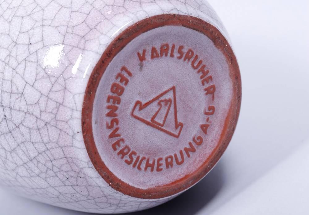 2 Krüge, Karlsruher Majolika u.a., um 1960/70 1x hochgebauchter Krug, Entwurf Fridegard Glatzle, - Bild 3 aus 5