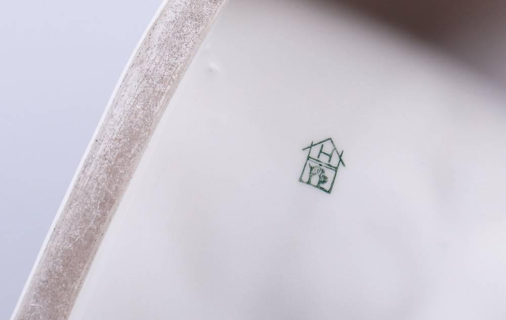 Alter Fritz zu Pferde, Hertwig & Co Porzellanfabrik, Katzhütte, 1. Hälfte 20.Jh. auf flachem Sockel, - Bild 6 aus 6