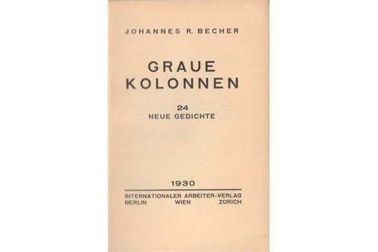 Johannes R Becher 2 Erstausgaben1 Am Grabe Lenins Wien