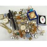ASSORTED COSTUME & DRESS JEWELLERY to include Conway Stewart 'Duro' 14ct fountain pen, Ritepoint