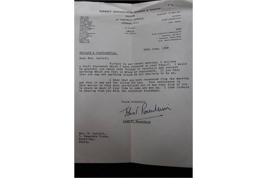 Lot 1046 - JOHN LENNON DIVORCE STATEMENT - original