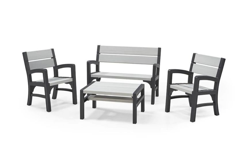 Keter Rustic style 4 piece Lounge set, new and boxed, RRP £399.99