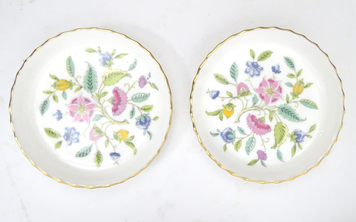 Lot 88 - Minton Haddon Hall: A quantity of green rim Haddon Hall tea service pieces designs by John