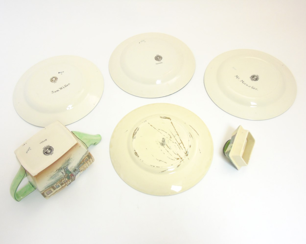 Lot 71 - A quantity of ceramics comprising Royal Doulton Dickensware items comprising a Bill Sykes teapot,