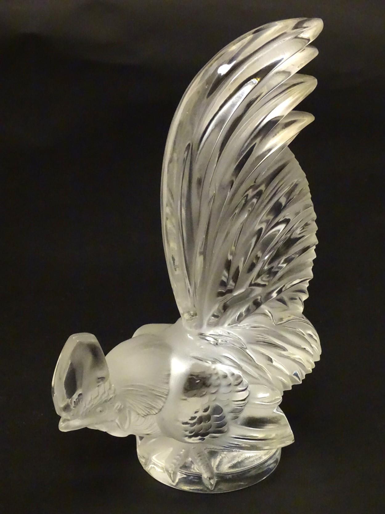 Lot 107 - Lalique France Mascot : a Car bonnet mascot ' COQ NAIN ' (1954 ) ,