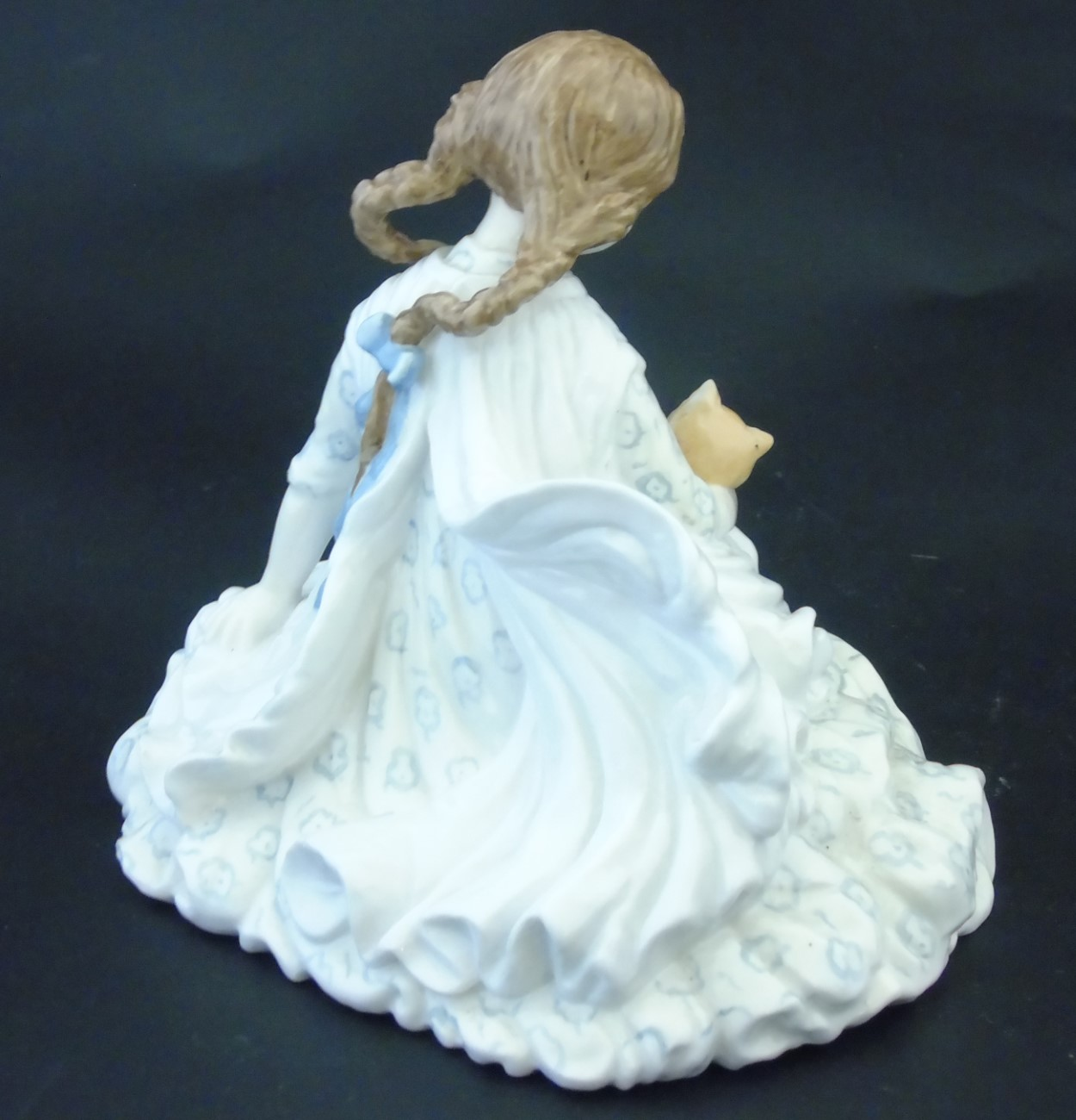 Lot 74 - Royal Worcester Limited Edition 'Safe at last' figurine of a girl holding a cat, no.