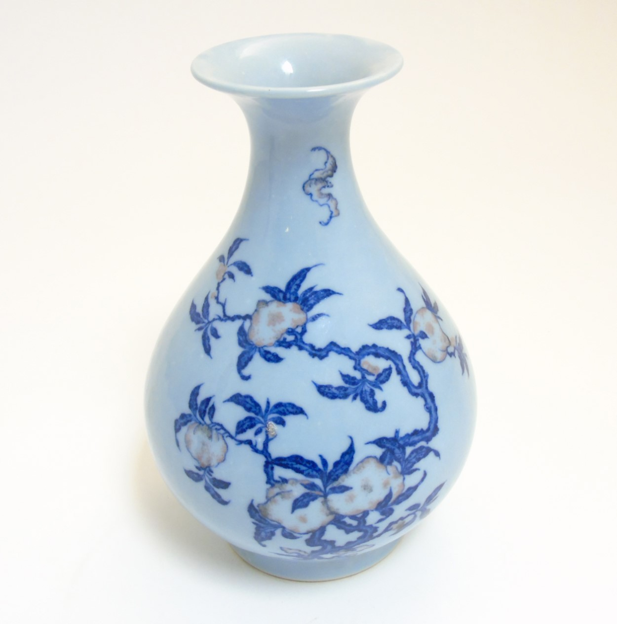 Lot 35 - A Chinese Yuhuchungping pear shaped vase with flared rim,