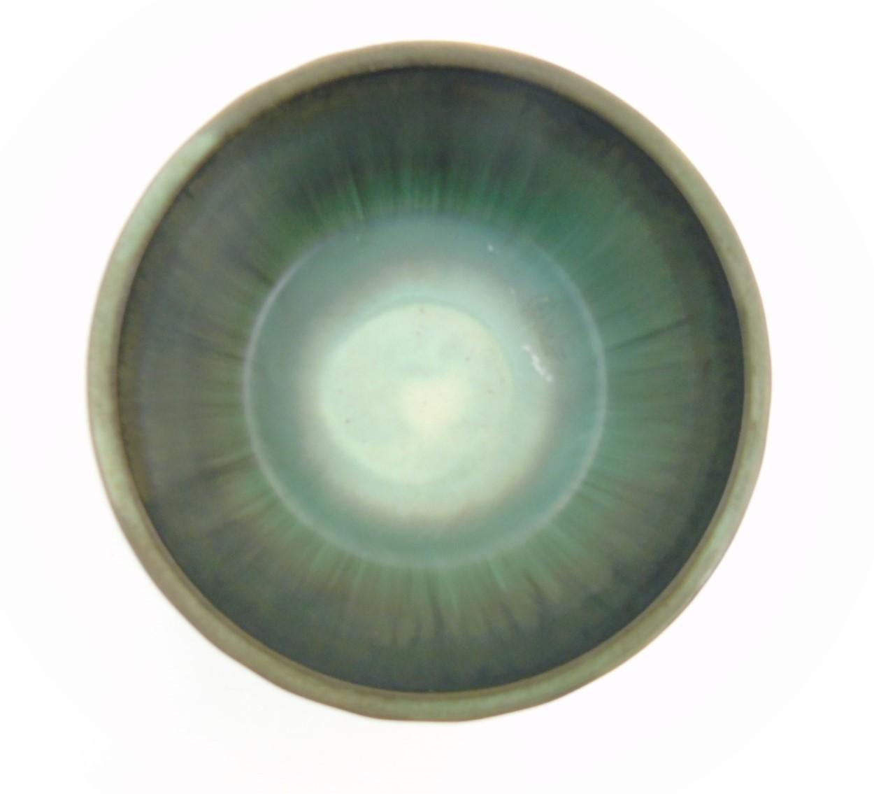 Lot 83 - Scandinavian Studio Pottery: A Swedish bowl with green interior by Tilgmans Keramik, Sweden,