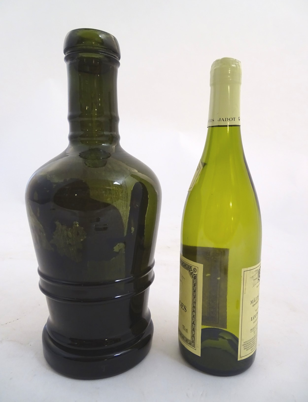 Lot 93 - A large olive green bottle , circa 1820 ,