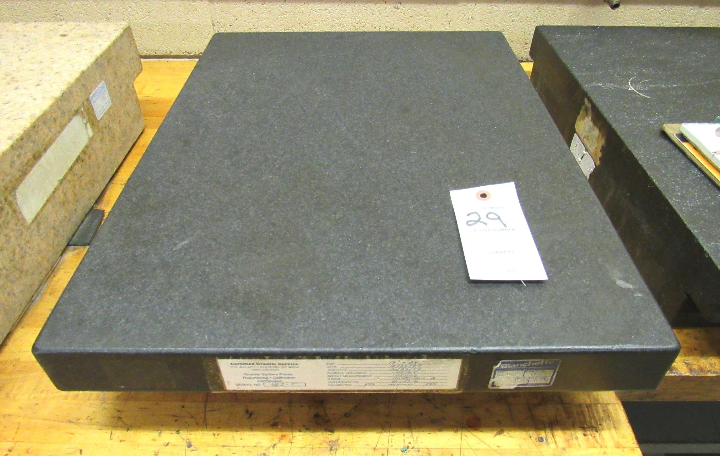 """Lot 29 - 18""""x24""""x 4.5"""" 4-Ledge Granite Surface Plate"""