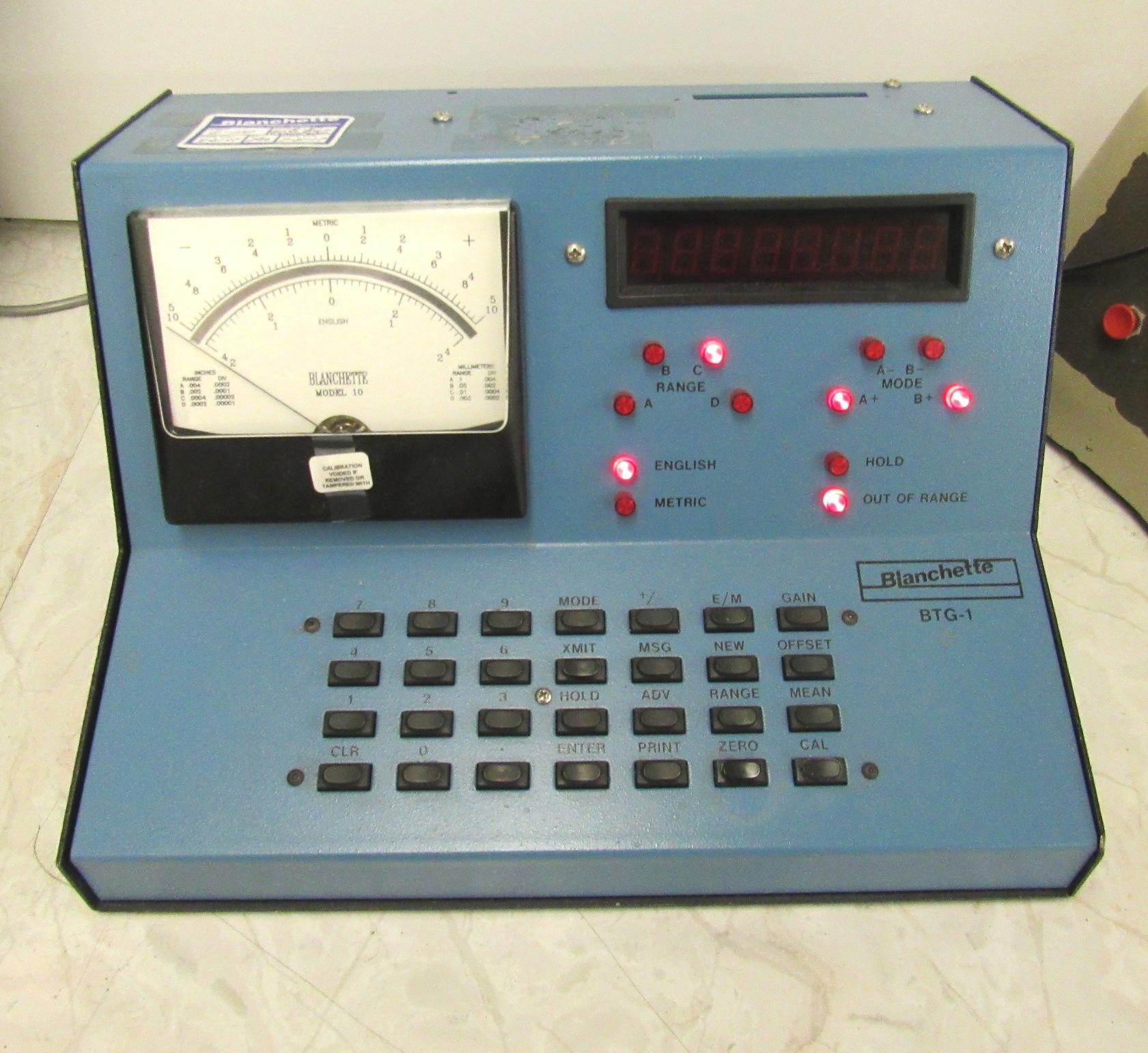 Lot 52 - Blanchette Sheffield Dualjet Gage Block Compatator W/ BTG1 Amplifier