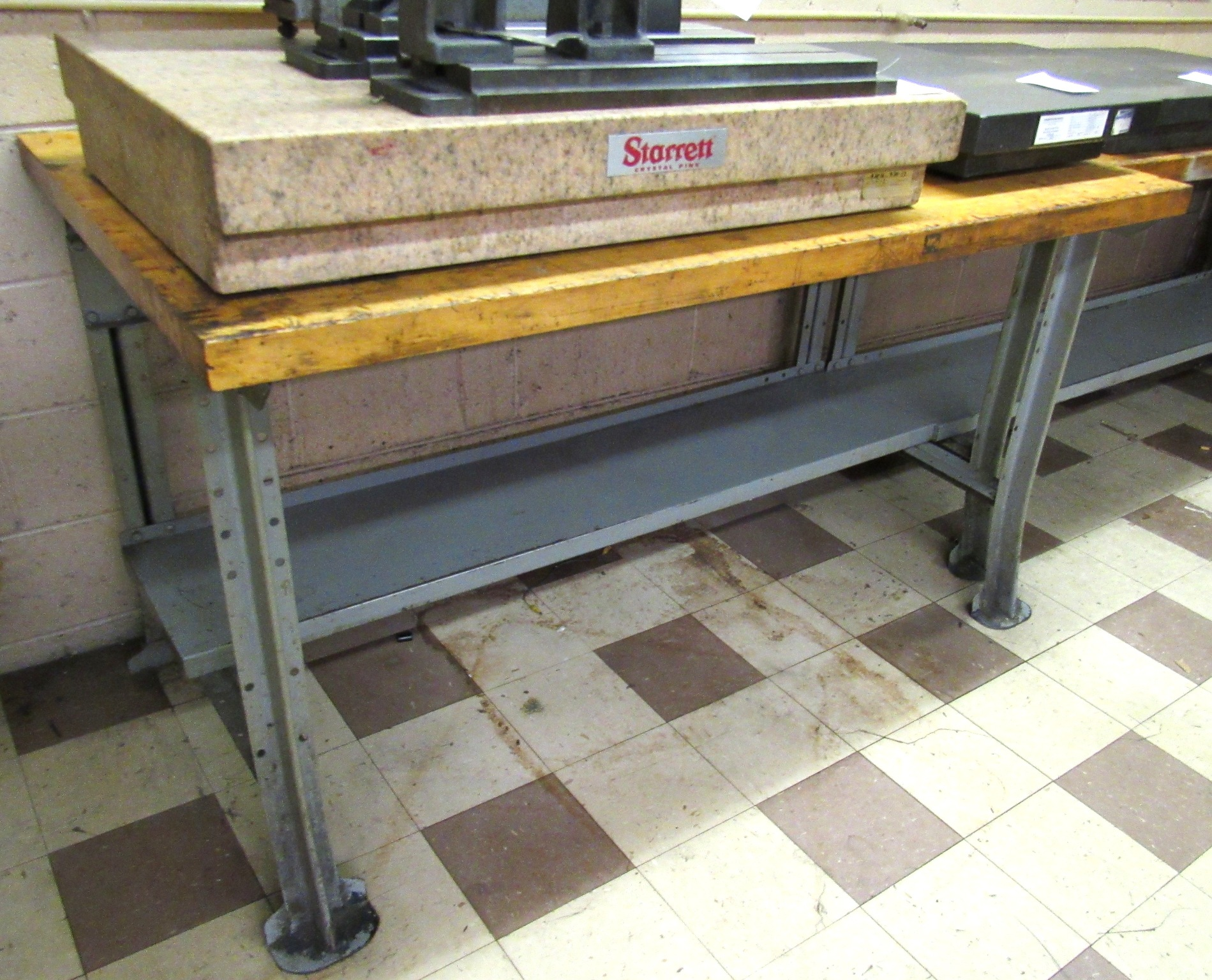 "Lot 33 - 34""x60"" Maple Top Work Bench"