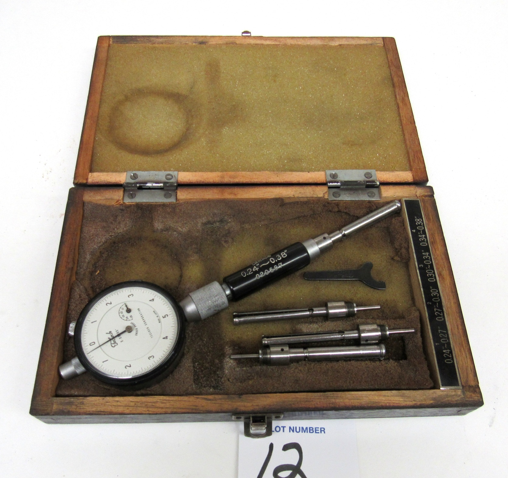 "Lot 12 - Teclock 0.24""-.38"" Dial Bore Gage"