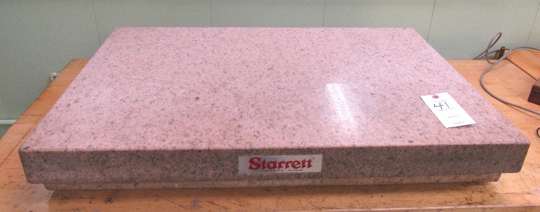 "Lot 41 - 24"" x 36"" Starrett Crystal Pink Surface Plate"