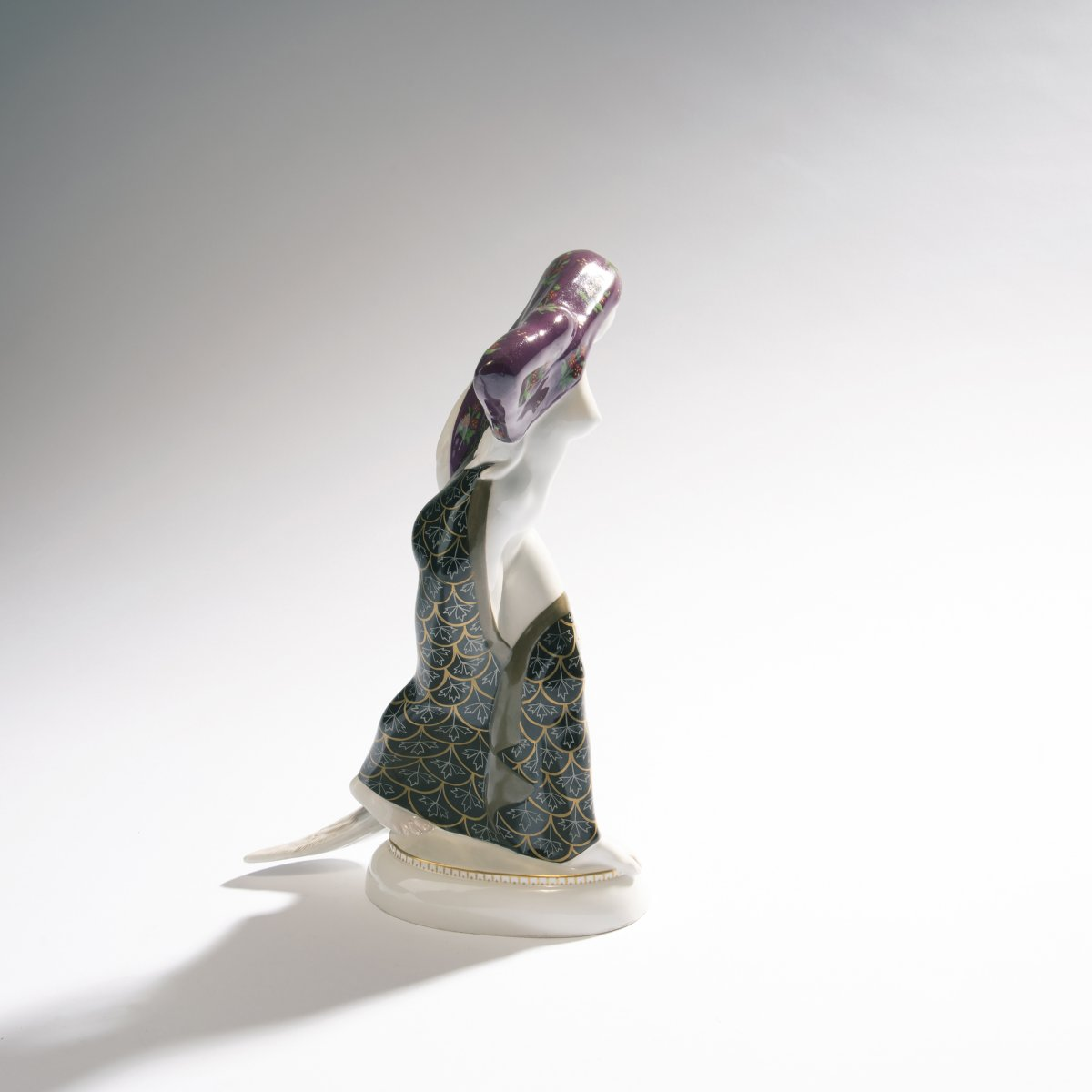 Adolph Amberg, 'Indian woman', 1910'Indian woman', 1910H. 26 cm. Made by KPM Berlin. Porcelain, - Image 2 of 3