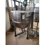 Groen 100 Gallon Jacketed, Agitated Mixing Kettle, M# N-100, S/N 50626-1, W/ Sanita | Rig Fee: $250