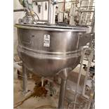 Hamilton 150 Gallon Jacketed, Agitated Mixing Kettle, W/ Discharge Pump | Rig Fee: $400