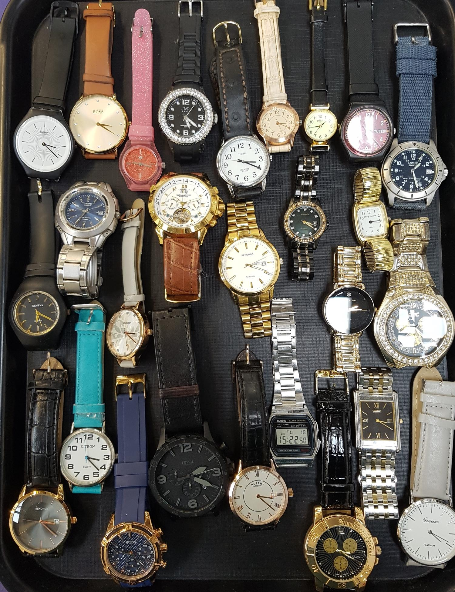 Lot 21 - SELECTION OF LADIES AND GENTLEMEN'S WRISTWATCHES including Swatch, Hugo Boss, Timex, Sekonda, Lorus,