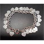 TIFFANY & CO. 'RETURN TO TIFFANY' MULTI HEART TAG SILVER BRACELET the bracelet with multiple heart