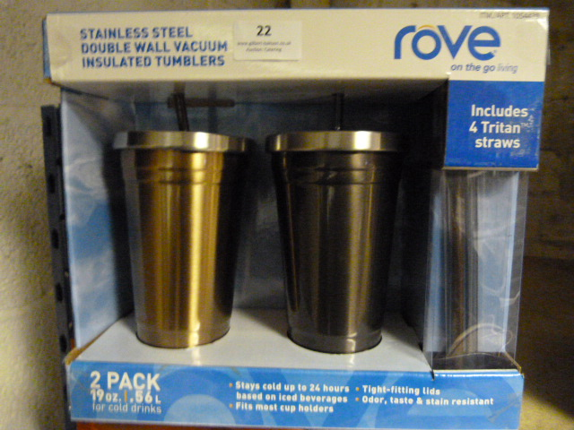 Lot 22 - *Two Rove Stainless Steel Insulated Cups