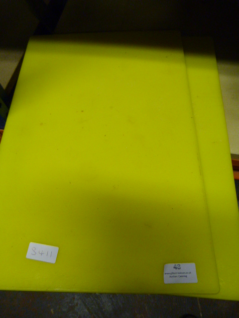 Lot 48 - *Two Yellow Chopping Boards
