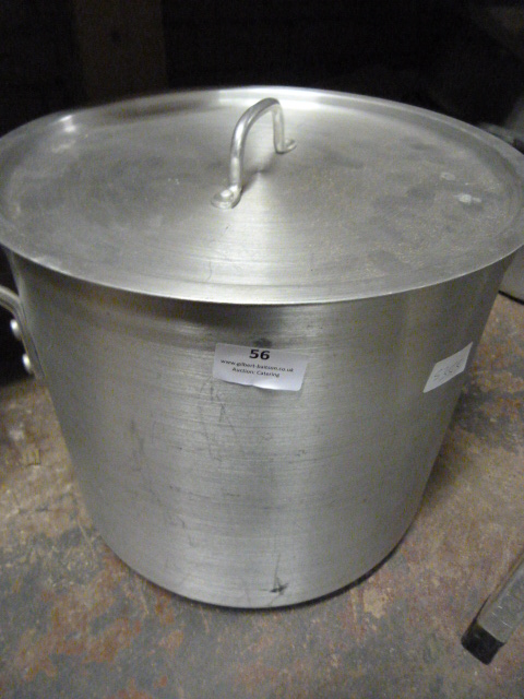 Lot 56 - Tall Twin Handle Aluminium Sauce Pan with Cover