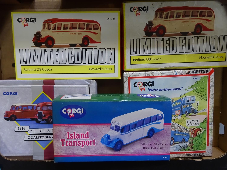 Lot 170 - Corgi Bus collection (5 ITEMS, BOX 117)