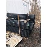 LOT OF 7FT BLACK FENCE POSTS
