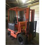 TOYOTA OUTDOOR (FBA25) 5,000 LBS ELECTRIC 48 VOLT FORKLIFT W/CHARGER