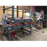 LOT OF 2 POWERED RED ROLLER CONVEYORS