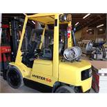 Hyster (S50XM) 5,000 lbs. cap Outdoor / Pneumatic Tire LPG Forklift