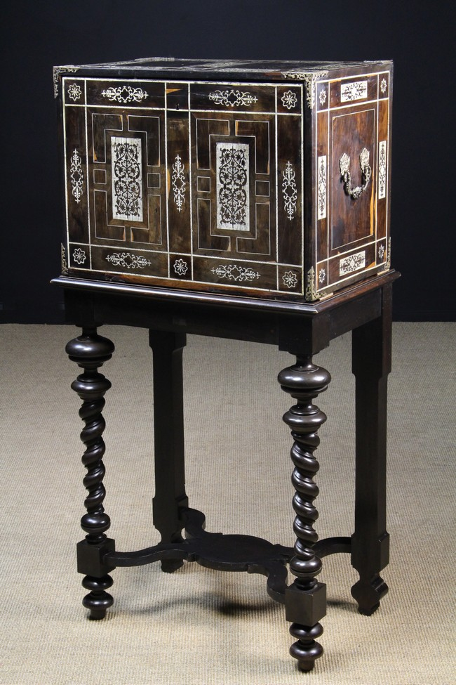 Lot 53 - A Late 17th Century Inlaid Italian Collector's Cabinet on Stand.