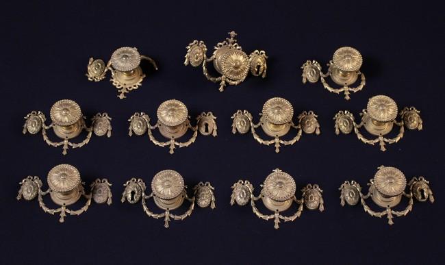 Lot 25 - Eleven Fine Quality Louis XVI Gilt Bronze Handles.