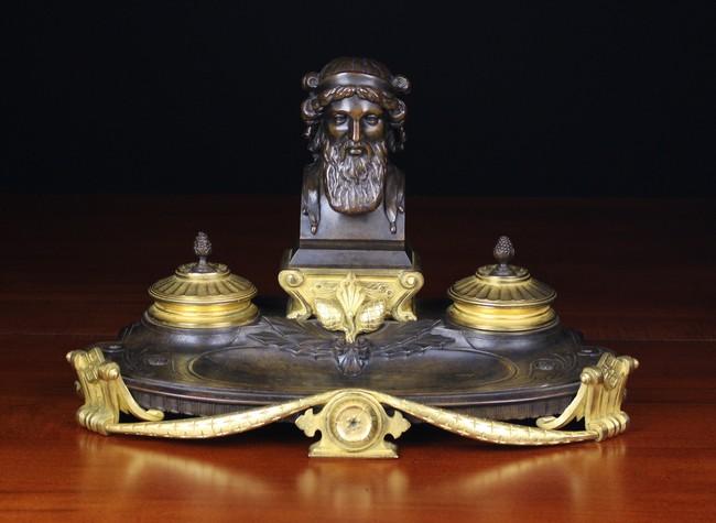 Lot 32 - A Bronze French Empire Desk Set.