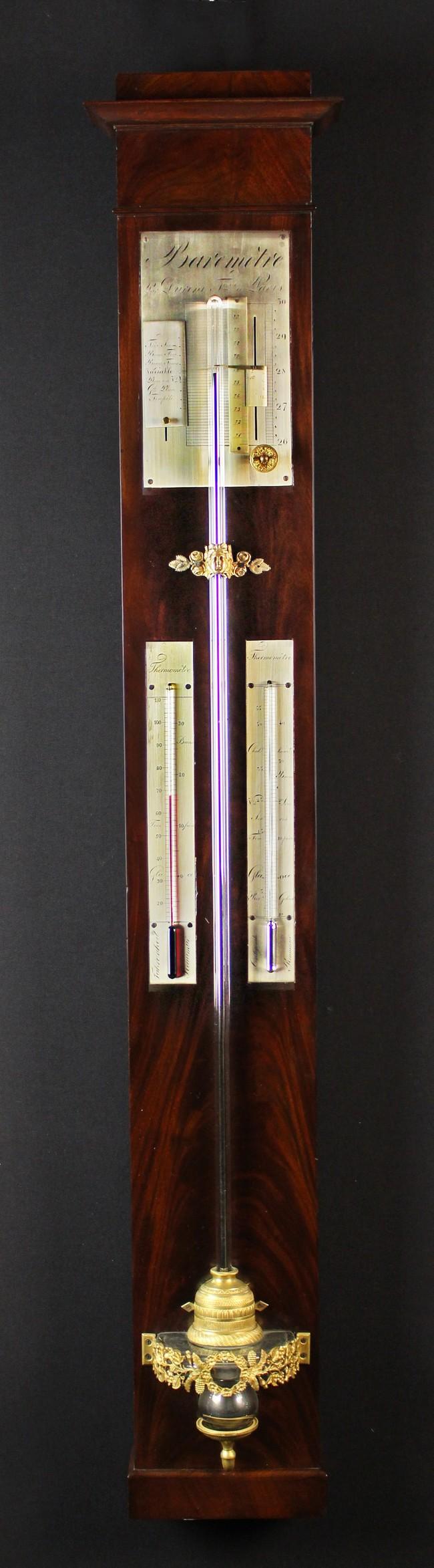 Lot 34 - A Fine Quality 19th Century French Barometer by Duroni Frères à Paris.
