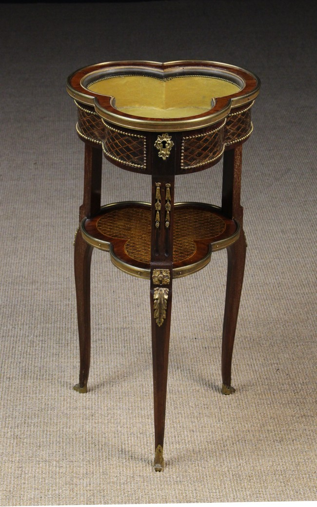Lot 43 - A Charming Late 19th Century Trefoil shaped Bijouterie Table.