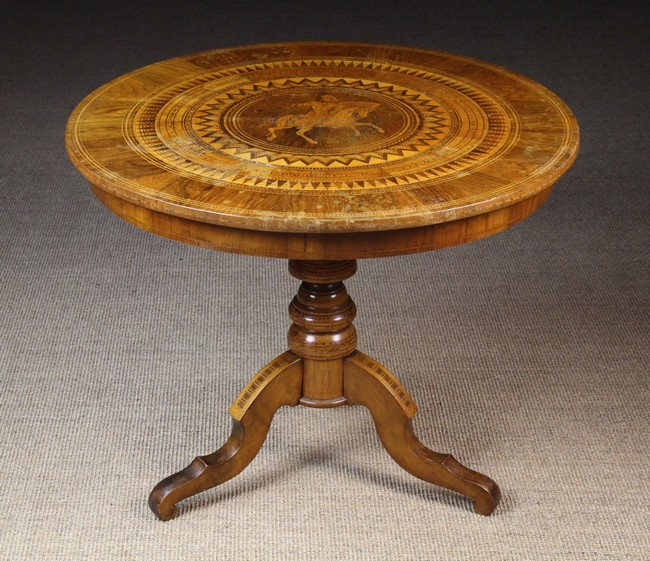 Lot 47 - A Late 19th Century Inlaid Sorrento Tilt-top Table.