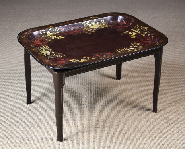 Lot 38 - A Large 19th Century Papier-mâché Tray on Stand.