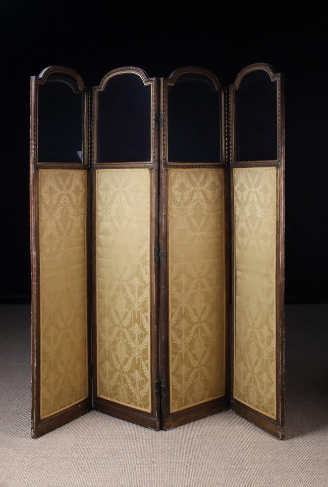 Lot 20 - A Louis XVI Four-fold Dressing Screen (A/F).