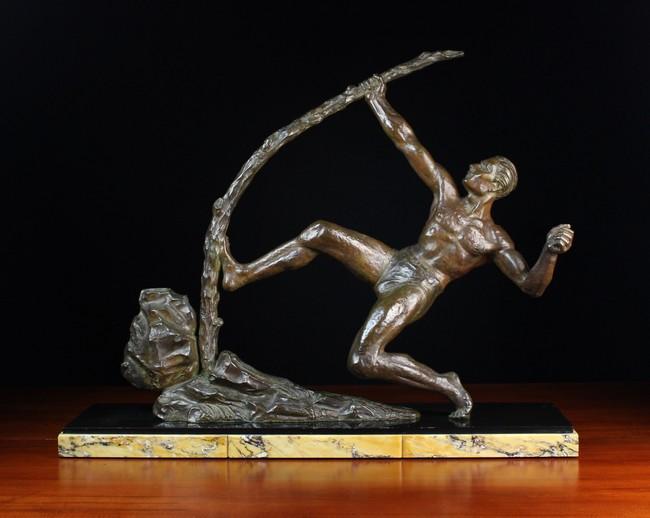 Lot 9 - An Art Deco Bronze Figure of an Archer after a study by Antoine Bourdelle; 'Héraclès Archer'.