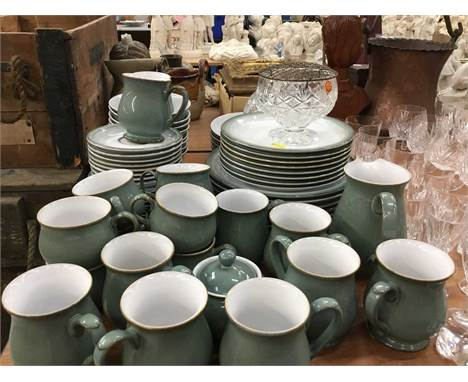 Lot Denby dinner/ breakfast ware and lot glasswareCondition report: The Denby is in very good condition and looks unused. The