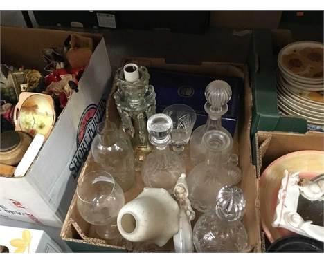 Lot decorative china, glassware and sundries