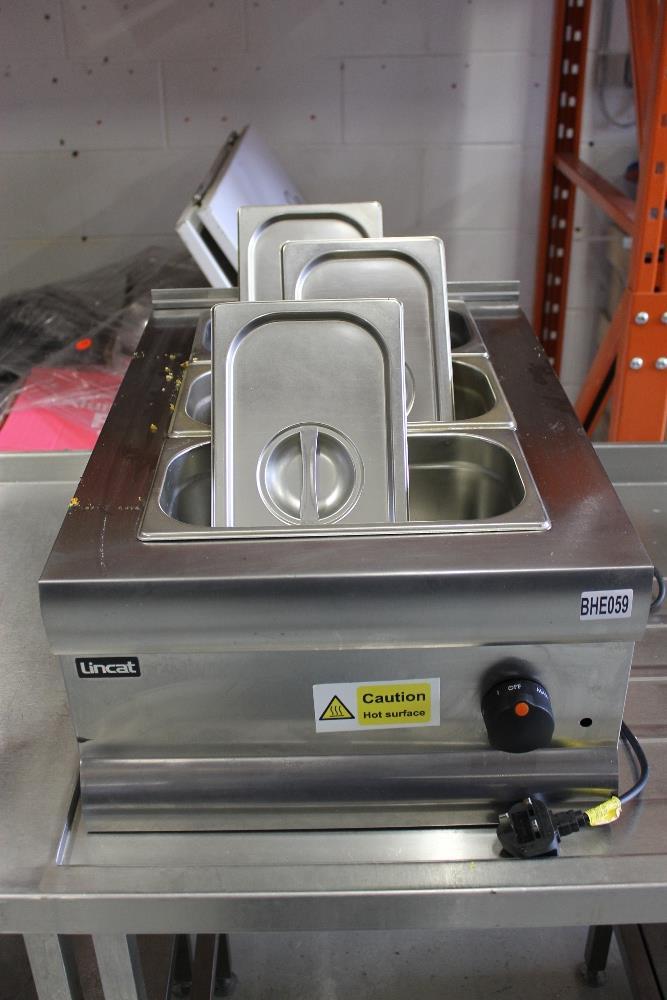 Lot 4 - Lincat 3 Pot Bain Marie -750w -1ph – NO VAT