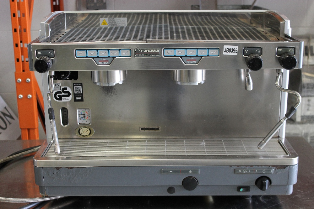 Lot 32 - FAEMA E98 President 2 Group Espresso / Cappuccino Coffee Machine 3ph – missing Group Heads