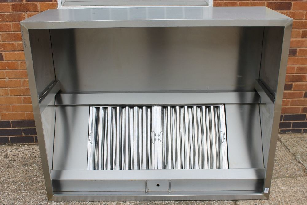 Lot 3 - Stainless Steel Industrial Kitchen Canopy with Aluminium Ducting + Filters - NO VAT