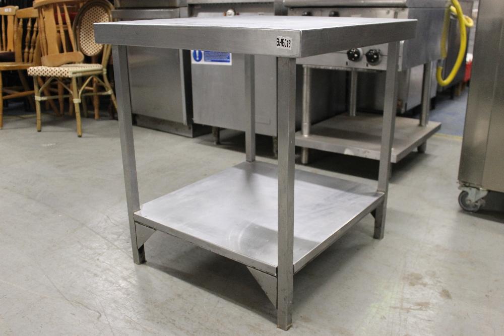 Lot 26 - Stainless Steel Table with Under Shelf – NO VATW71cm x H79cm x D71cm
