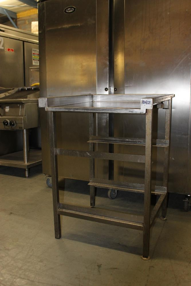 Lot 28 - Dishwasher Feed Table with 2 Tray Runners H89cm x D65cm