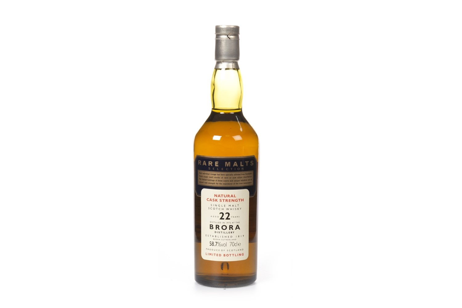 Lot 1028 - BRORA 1972 RARE MALTS AGED 22 YEARS