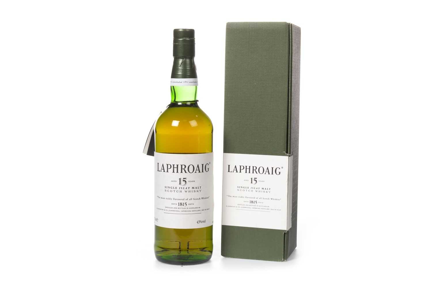 Lot 1026 - LAPHROAIG AGED 15 YEARS PRE-ROYAL WARRANT