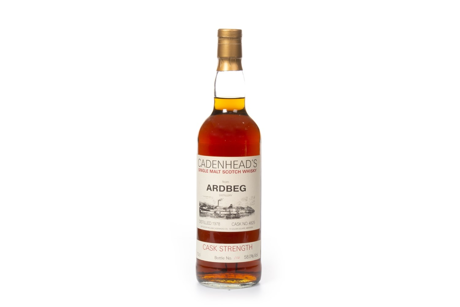 Lot 1022 - ARDBEG 1978 CADENHEAD'S CASK STRENGTH